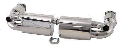 Billy Boat FPOR-0880 Muffler - Uses OE Tips fit Porsche 997 06-08 Twin Turbo