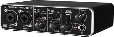 Behringer U-PHORIA UMC202HD 2x2, 24-Bit/192 kHz USB Audio Interface with Midas
