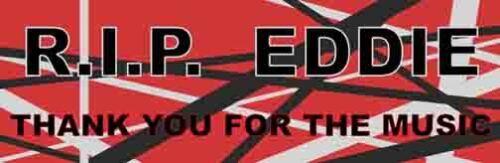 Eddie Van Halen Tribute   Decal bumper Sticker