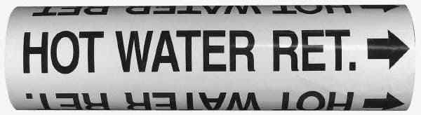 Made in USA Pipe Marker with Cold Water Return Legend and Arrow Graphic 10 to...