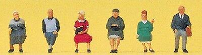 Z scale Preiser (6) SEATED Elderly Passenger Figures 88553