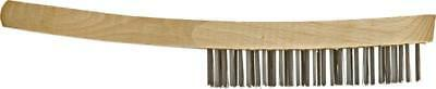 12 x 4 row Wire Brushes General Purpose Wire Hand Brush Wood Handle WB1