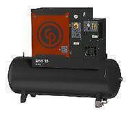 BRAND NEW C.P Tank Mounted15hp 575v Screw Compressor with Refrigerated Air Dryer