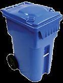 Bac de recyclage sur roue 40$ plusoeurs uniter en stock