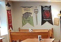 Game of Thrones table set from The Geekery Pub