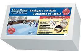 NiceRink Backyard Ice Hockey Rink in a Box 20' x 40' DIY Kit FREE SHIPPING Act now before the Ground Freezez