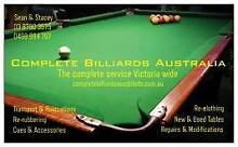 Pool Table / Billiard Table Transport and Re-Clothing and Repairs Narre Warren South Casey Area Preview