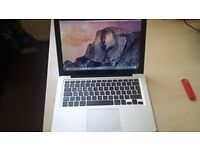 macbook pro late 2011 13 inch with i5 processor, 6gb ram, 750gb hdd, new osx installed