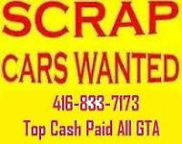 Top dollars paid for scarp & junk cars-free towing  4168337173