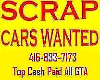 top cash$250up$2000 paid for you scrap cars call 416-833-7173