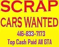 top cash$250 up$4000paid for you scrap cars call   416-833-7173