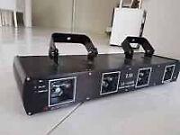 Quad 420mW DJ laser LD-488B Double Tunnel Dj Laser