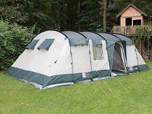 Skandika Hurricane 12 Man Family Tent u0026 Coleman Galileo 8 tent side extension porch - Universal & Skandika Hurricane 12 Man Family Tent u0026 Coleman Galileo 8 tent ...