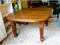 Handmade light oak square dining table