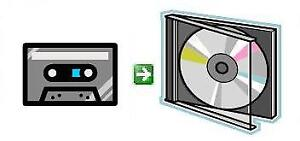 Service for converting audiotapes/audio-cassettes to CD