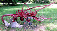 Antique Two Furrow Plough-Very unique & Very old. Must be seen