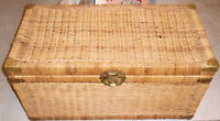 Vintage Wicker Trunk Hudson's Bay Co. 1970s Coffee Table Storage