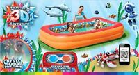 3D kids swimmng pool with 3D goggles $20