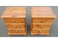 2 Solid Pine Chest Of Draw's
