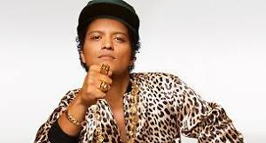 BRUNO MARS TIX EDMONTON SEC 117 ROW 12 JULY 30 PRIME