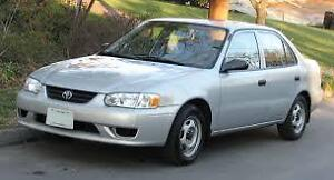 WANT TO BUY 98-02 TOYOTA COROLLA PARTS