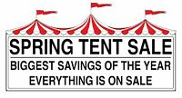 DISTINCTLY PATIO WAREHOUSE TENT SALE!!!