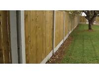 Fencing Kit - 6' High - Over 60' in Length inc Vertilap Panels / Plinths / Concrete Posts