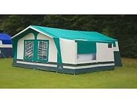 Sunncamp 350 SE Trailer Tent. 4 Berth Trailer Tent with additional pods, large awning and extra's