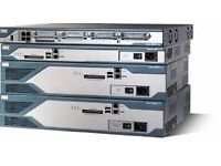 Cisco 2851 and 1841 Integrated Services Router Voice with cables and rack CCIE CCNP