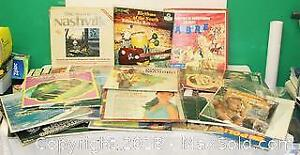 45 Assorted Record Albums In Bags & 2 Boxed Sets