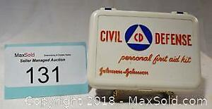 CIVIL DEFENSE personal first aid kit, probably from late 1950's