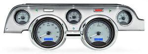 1967-1968-Mustang-gauge-cluster-Dakota-Digital-VHX-ford-SILVER-BLUE