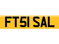 FT51 SAL PERSONALISED NUMBER PLATE - (SAL, SALLY) £80 TRANSFER FREE INCLUDED