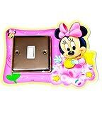 Light Switch Wall Stickers Minnie Mouse Glow in Dark