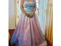 Pink and Blue Prom Dress 16-18