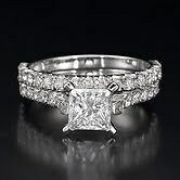 1-2-3-CT-WOMENS-DIAMOND-ENGAGEMENT-14K-WHITE-GOLD-WEDDING-PRINCESS-CUT-RING-SET