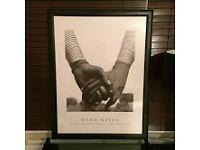 Herb Ritts framed black and white poster