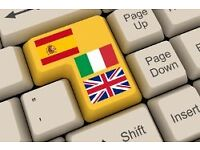 Translations from English and Italian into Spanish