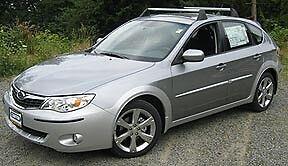Roof rack cross bars 2008 Subaru Impreza