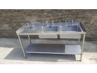double sink with hand basin on the left hand side