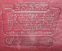 Serial Number Stamped Into The Area Where Serials Were Previously Glued In Coach Was Still Copyrighted