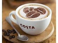 Barista, Barista maestro and Assistant manager for new Costa Coffee store