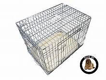 """30"""" Ellie Bo silver dog crate and padded fleece liner"""