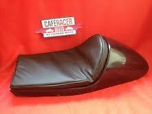 LARGE CAFE RACER SEAT WITH UPHOLSTERED PAD TO FIT  BMW, TRIUMPH, MOTO GUZZI ETC