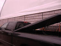 Toneau cover with all hardware for 2002 and newer Dodge Rams.