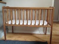 BABY COT - AND AVRIOUS OTHER ITEMS: COT-BOUNCER-CHAIR-WALKER-GYM-PLAY MAT-BUMBO-MOBILE-CARRIER