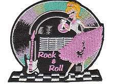 Rock'n'Roll embroidered cloth patch Rock n roll.     D040506