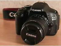 Canon 600d with kit lense and accessories