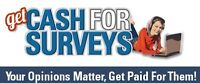 Work From Home Complete Surveys Get Paid