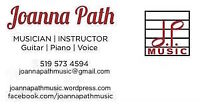 Music Lessons in Guitar, Piano, Voice